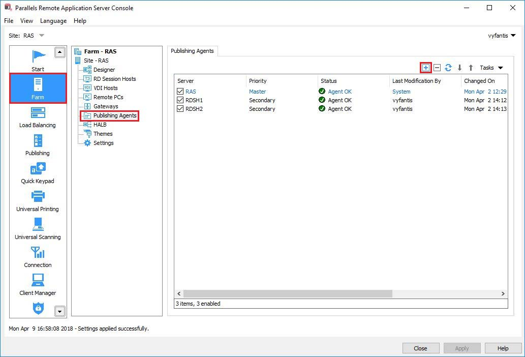 Phase 3 – Configuring RDSH and Publishing Agents - Parallels Remote