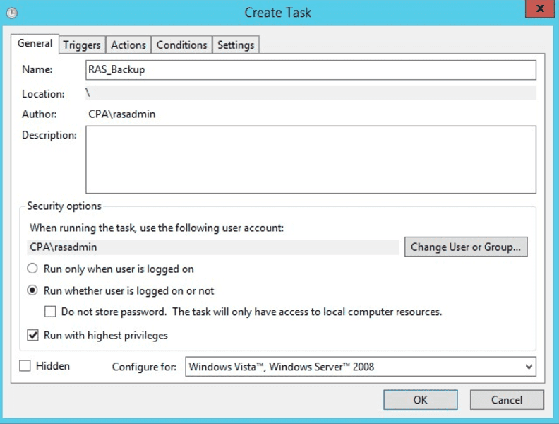 Creating Automatic Parallels RAS Console Backup