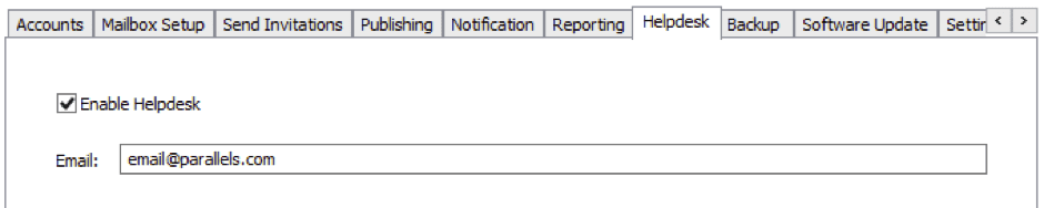 Helpdesk feature