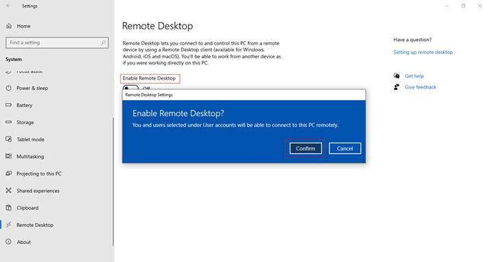 windows enable rdp