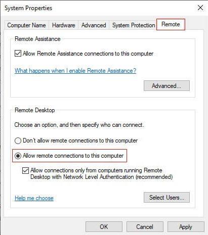 windows enable tdp