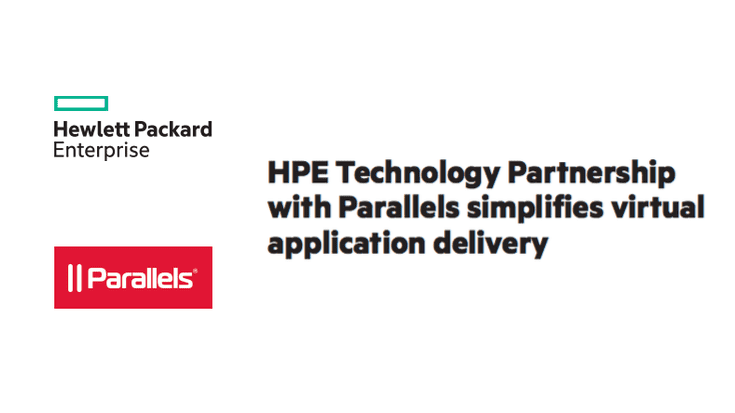 Parallels Partners with HPE Technology, Lowering TCO