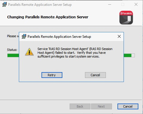 sufficient privileges to install system services