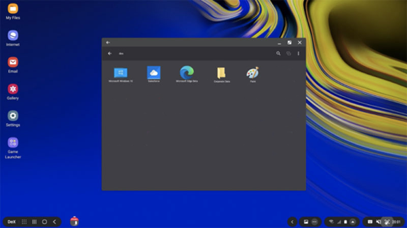 Accessing Windows virtual apps and desktop via Parallels Client in DeX mode