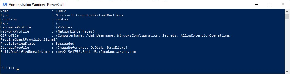 Figure 6 - Getting started with Azure PowerShell