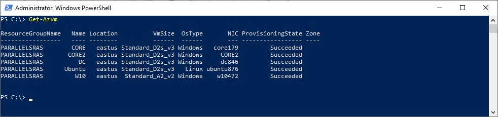 Figure 7 - Getting started with Azure PowerShell