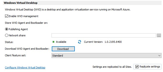 Figure 1 - Manage an Azure Windows Virtual Desktop Host Pool with Parallels RAS