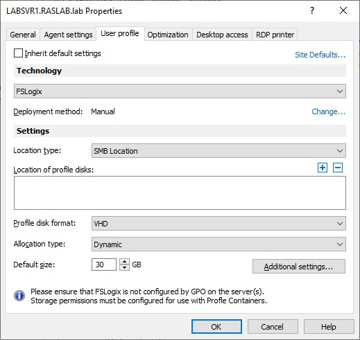 Figure 3 - FSLogix Support with Parallels RAS