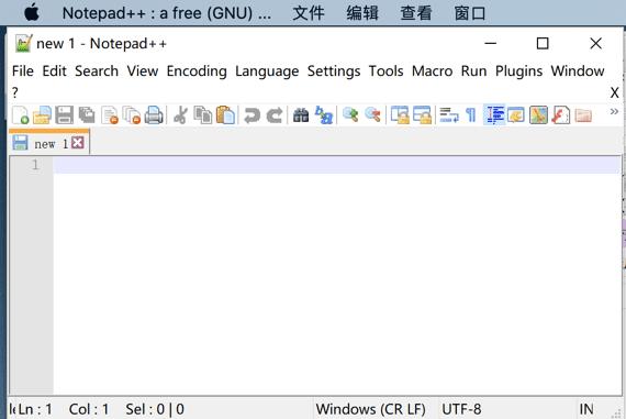 在Mac上使用Notepad ++