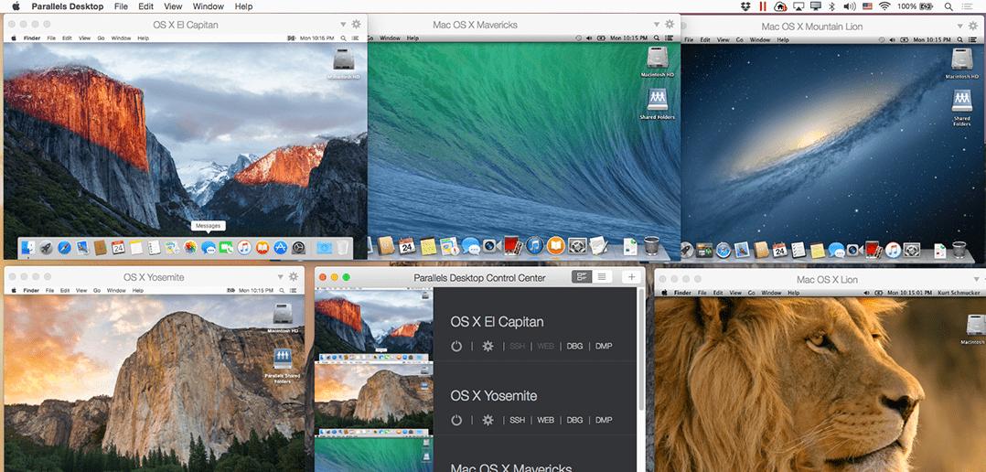 Mac-Entwickler? Teste mehrere Mac-Betriebssysteme in Parallels Desktop Pro
