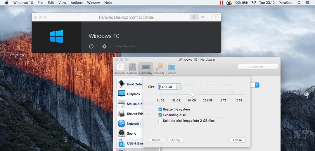 So änderst du die Größe deiner VM in Parallels Desktop