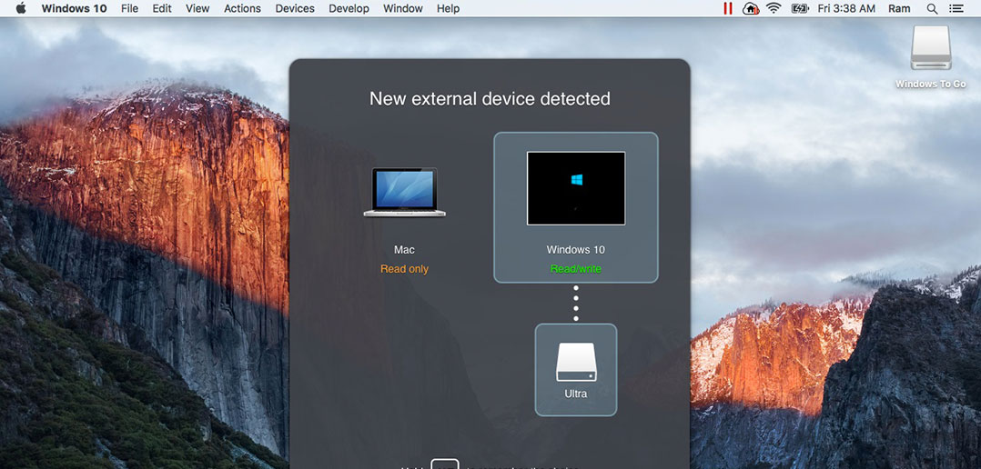 Windows To Go in Parallels Desktop
