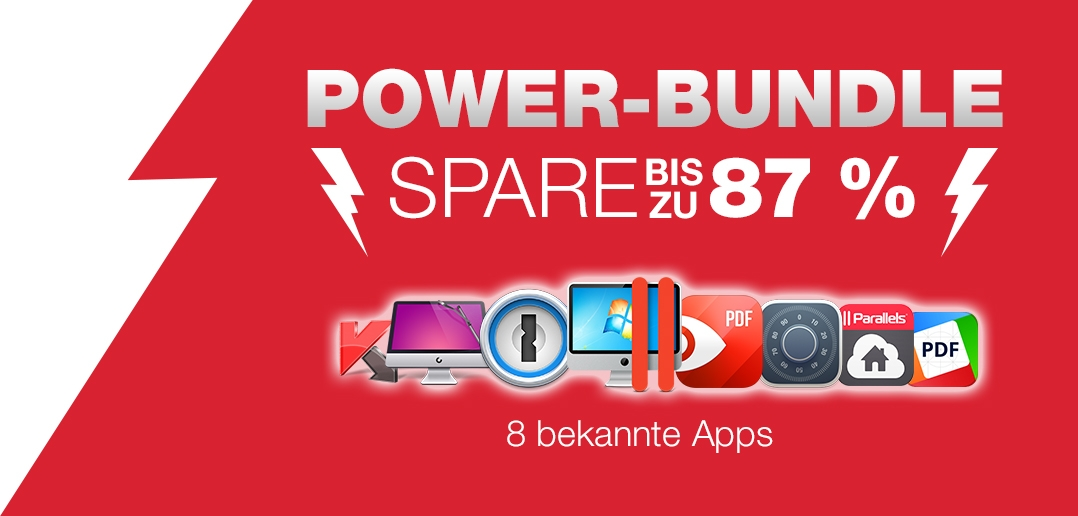 Parallels Desktop für Mac Power Bundle!