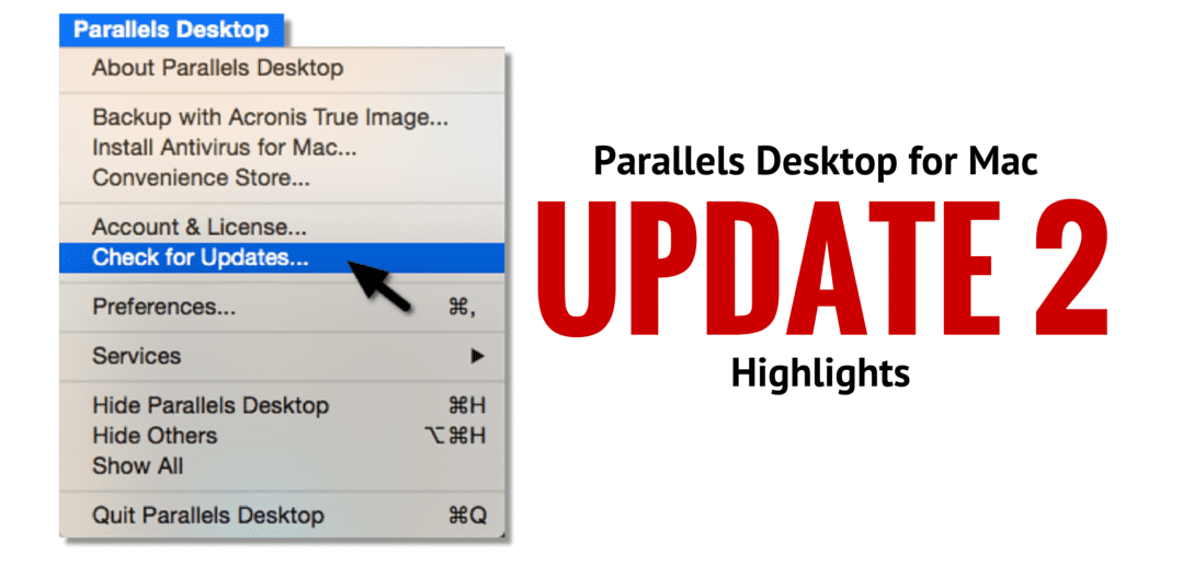 Parallels Desktop 11 Update2 Highlights