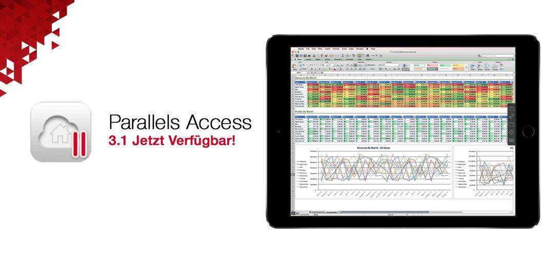 Parallels Access 3.1: Jetzt mit Unterstützung für iPad Pro