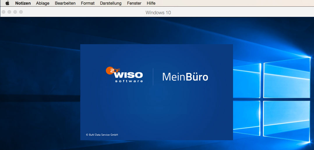 WISO Software auf dem Mac mit Parallels Desktop