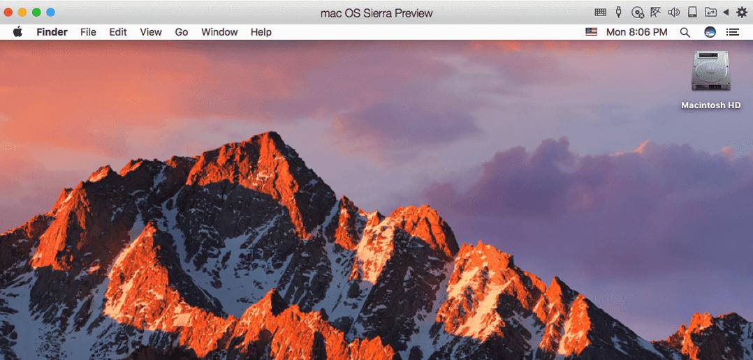 macOS Sierra Beta in einer VM