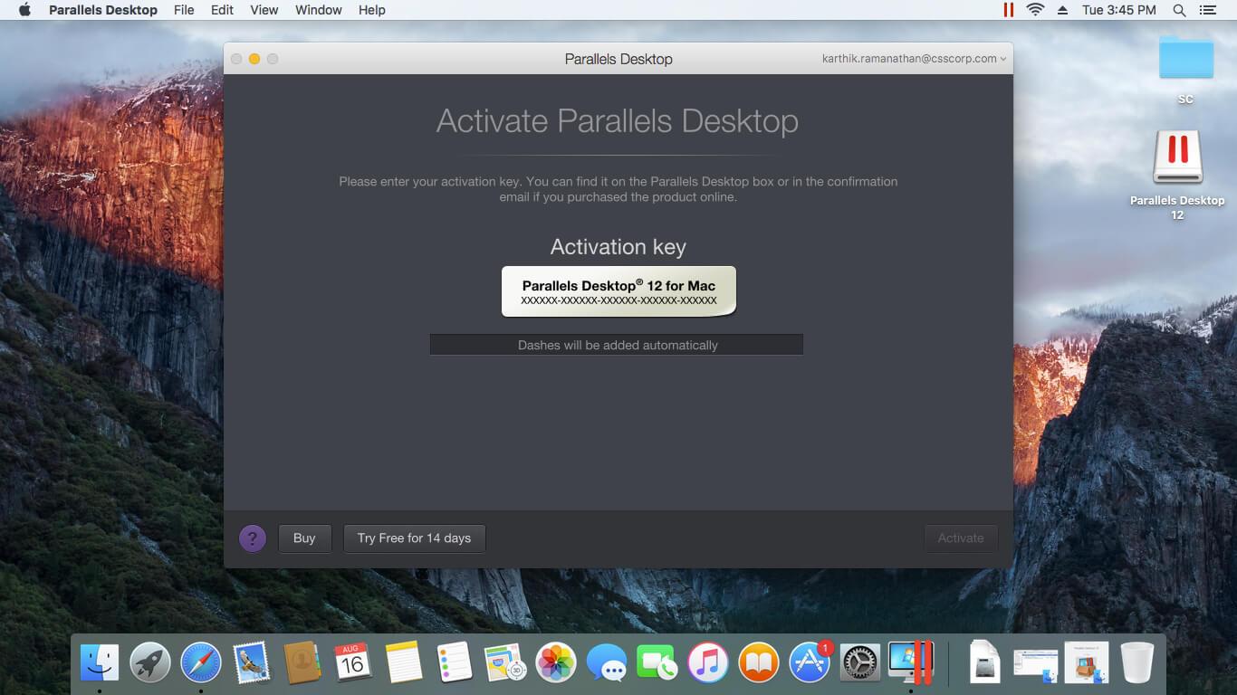 Upgrade auf Parallels Desktop 12