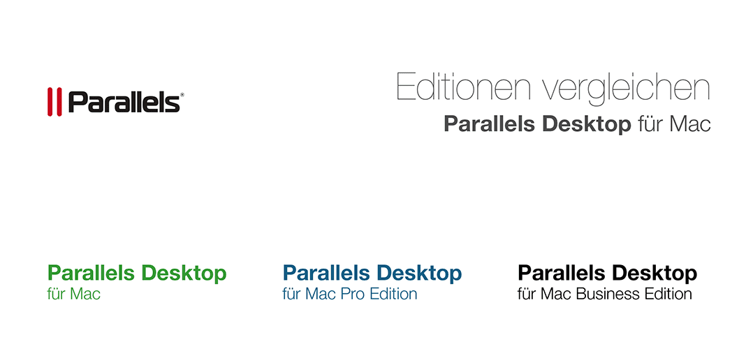 Editionen vergleichen Parallels Desktop für Mac