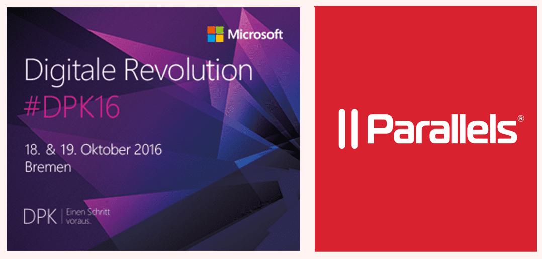 Parallels auf Digitale Revolution #DPK16 von Microsoft