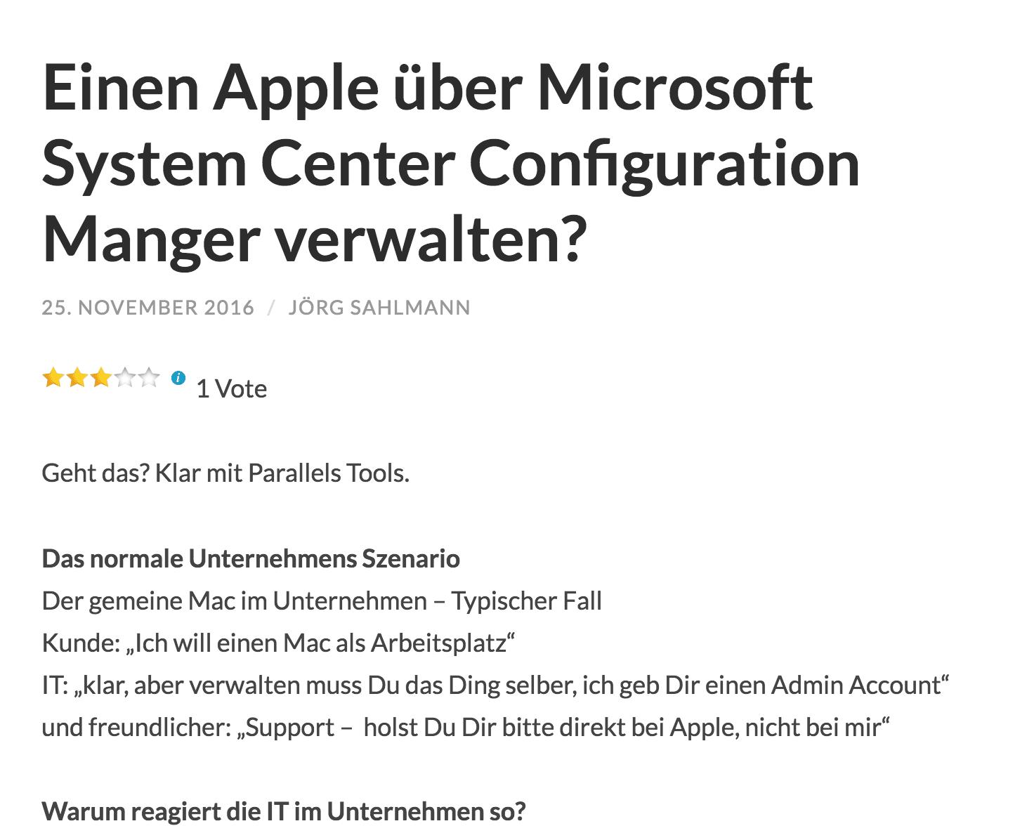 Macs wie PCs verwalten
