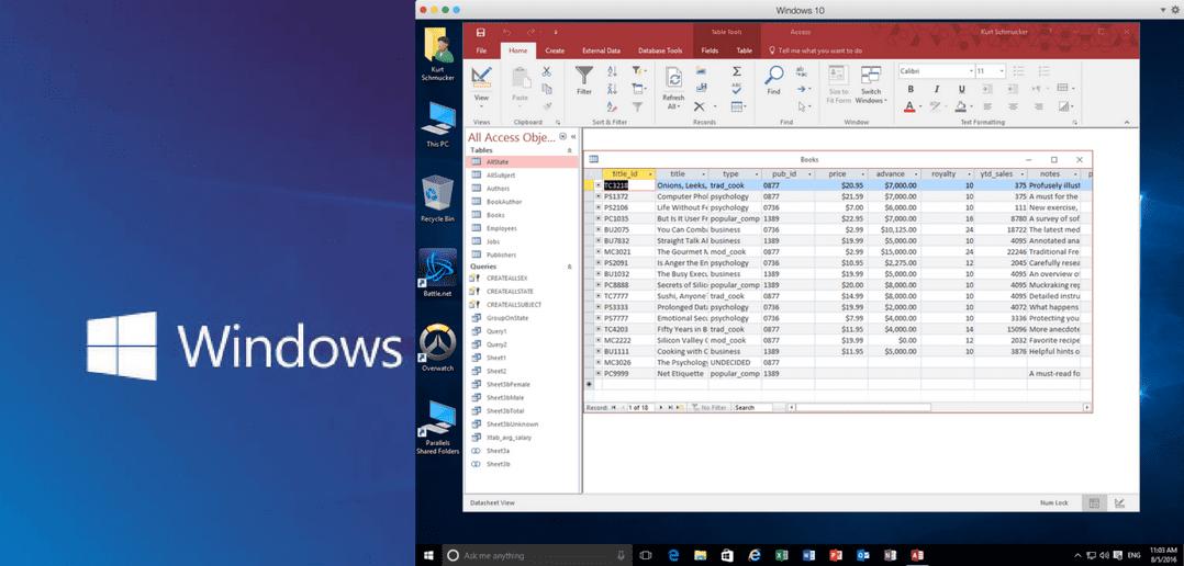 Microsoft Access auf dem Mac