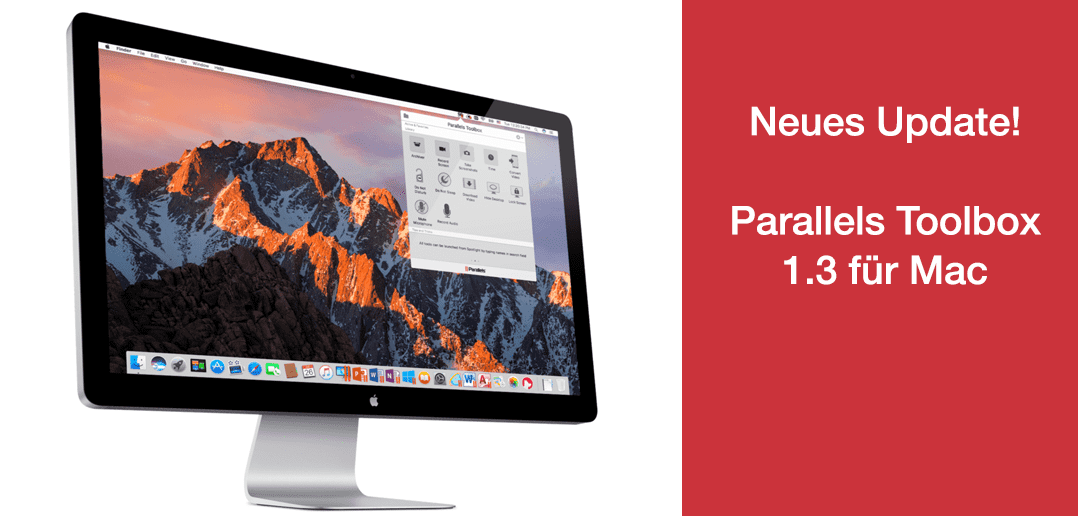 5 neue Tools in Parallels Toolbox 1.3 für Mac