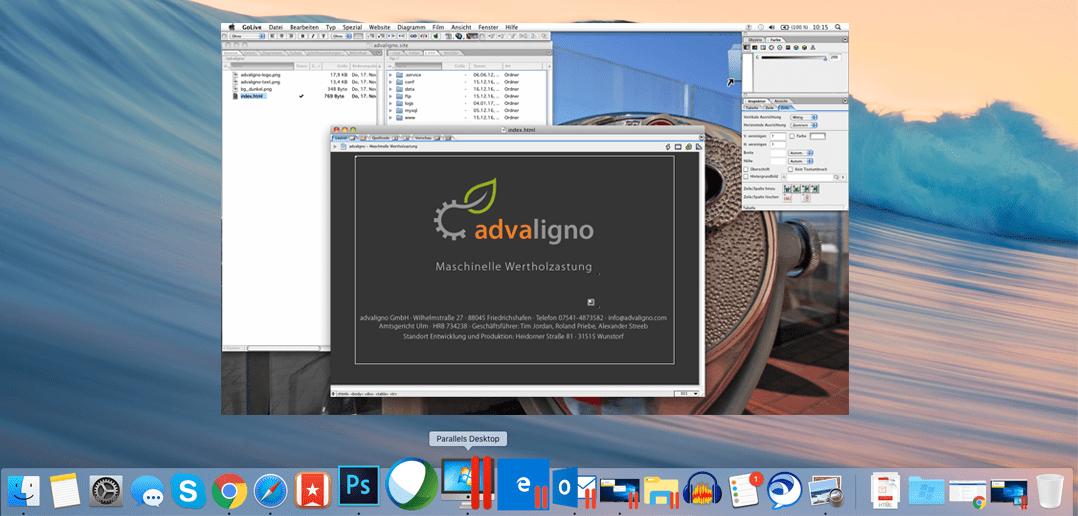 Kundenstory: Adobe GoLive 6.0 in einer Mac OS X 10.6 VM auf dem Mac nutzen