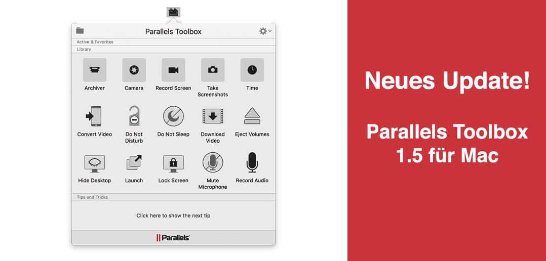 Was ist neu in Parallels Toolbox 1.5 für Mac?