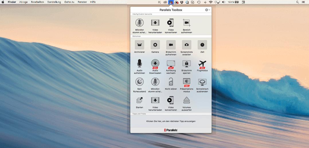 Parallels Toolbox 1.7 für Mac veröffentlicht!