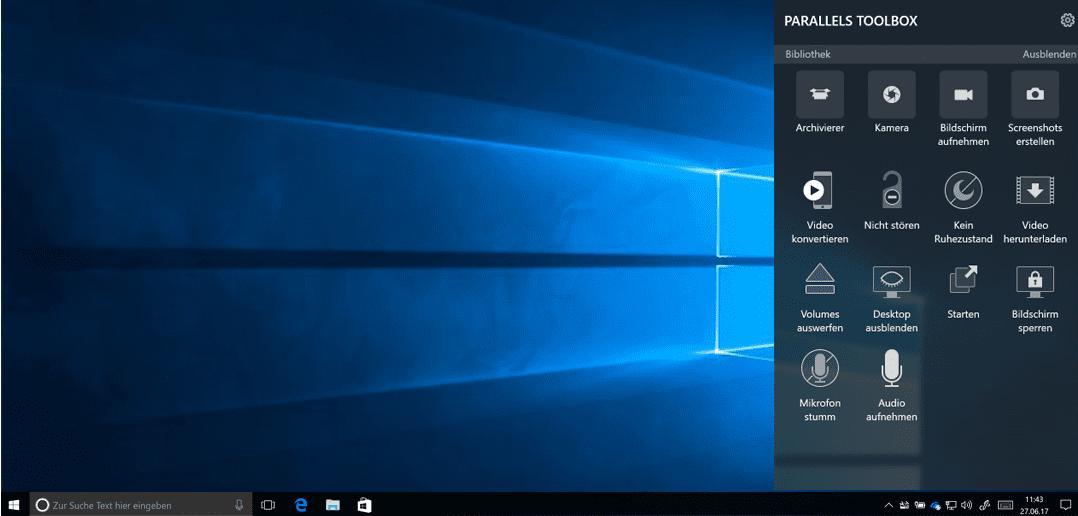Parallels Toolbox für Windows wird erstmals veröffentlicht