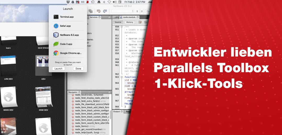 Entwickler lieben die Tools von Parallels Toolbox, die mit nur einem Klick zu bedienen sind