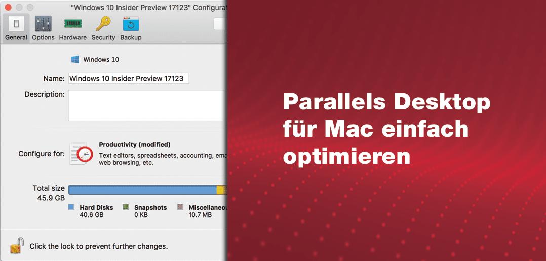 Parallels Desktop für Mac einfach optimieren