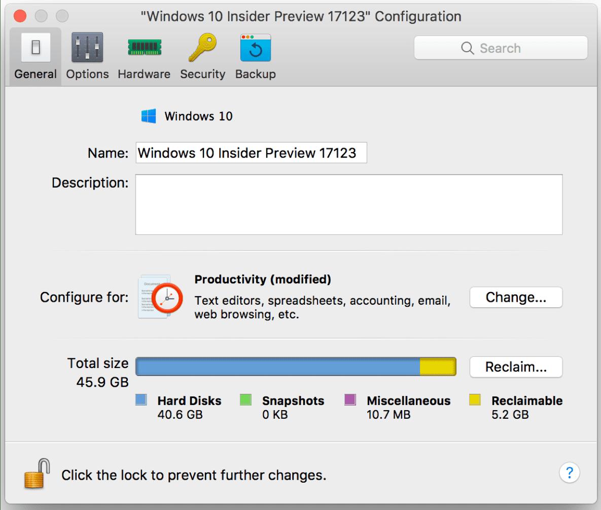 Parallels Desktop optimieren