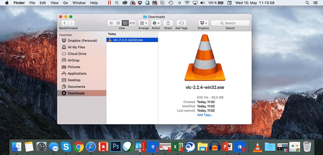.exe-Dateien auf einem Mac öffnen