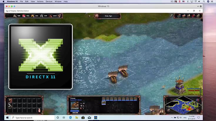Parallels Desktop 15, DirectX 11 und Metal