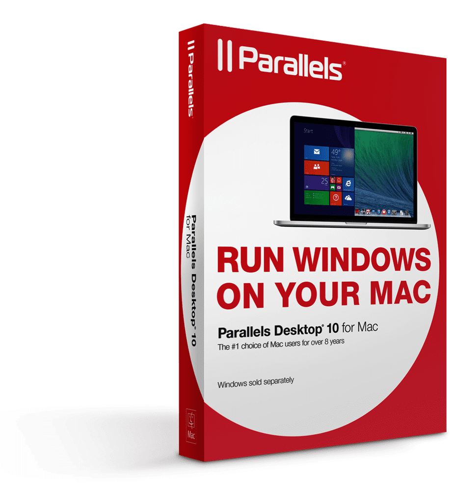 Box shot of Parallels Desktop 10 for Mac