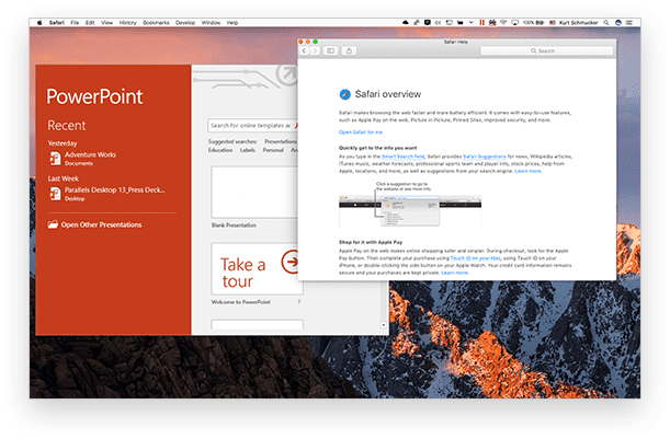 Run Windows 10 on Mac with Word & Powerpoint for Windows