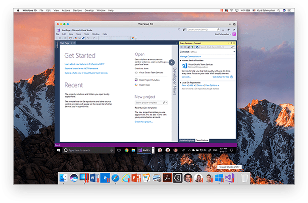 Run Visual Studio 2017 for Windows on Mac
