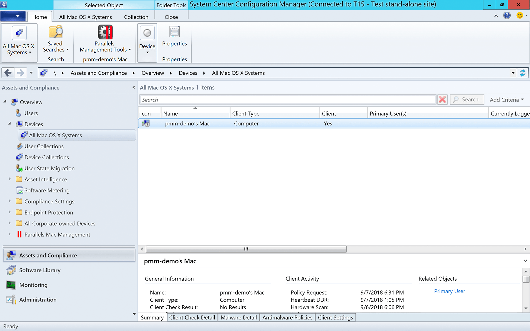 Features   Manage Mac with SCCM   Parallels