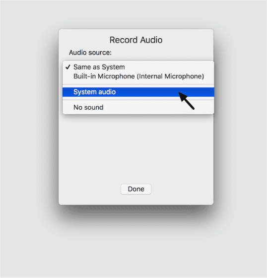 Figure 2_Selecting an audio source