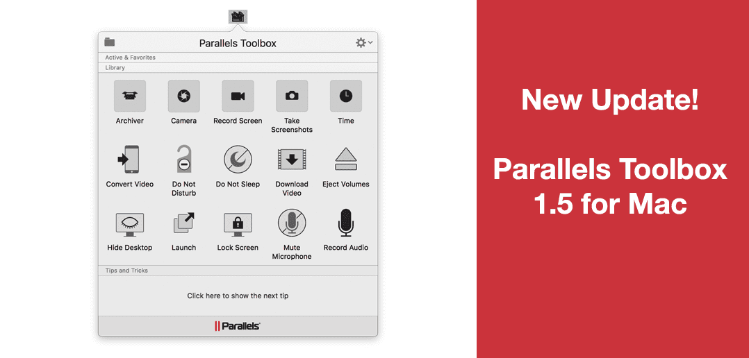 Parallels Toolbox 1.5 を発売開始
