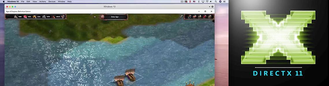 Parallels Desktop 15 と DirectX 11、そして Metal