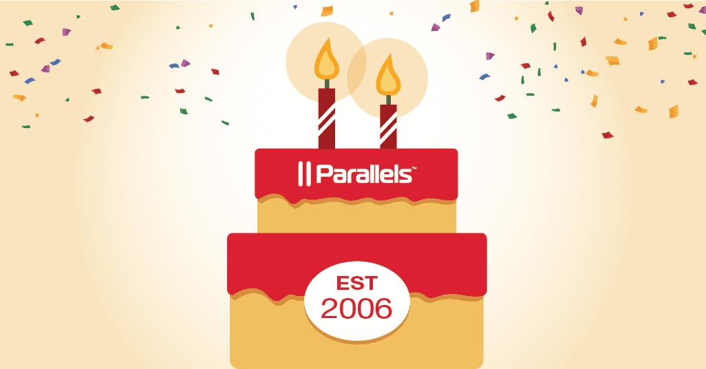 発売開始 14 周年を記念して Parallels Desktop for Mac が 25 % オフになる「バースデー キャンペーン」を開始